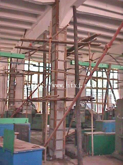 柱子包角钢加固混凝土柱